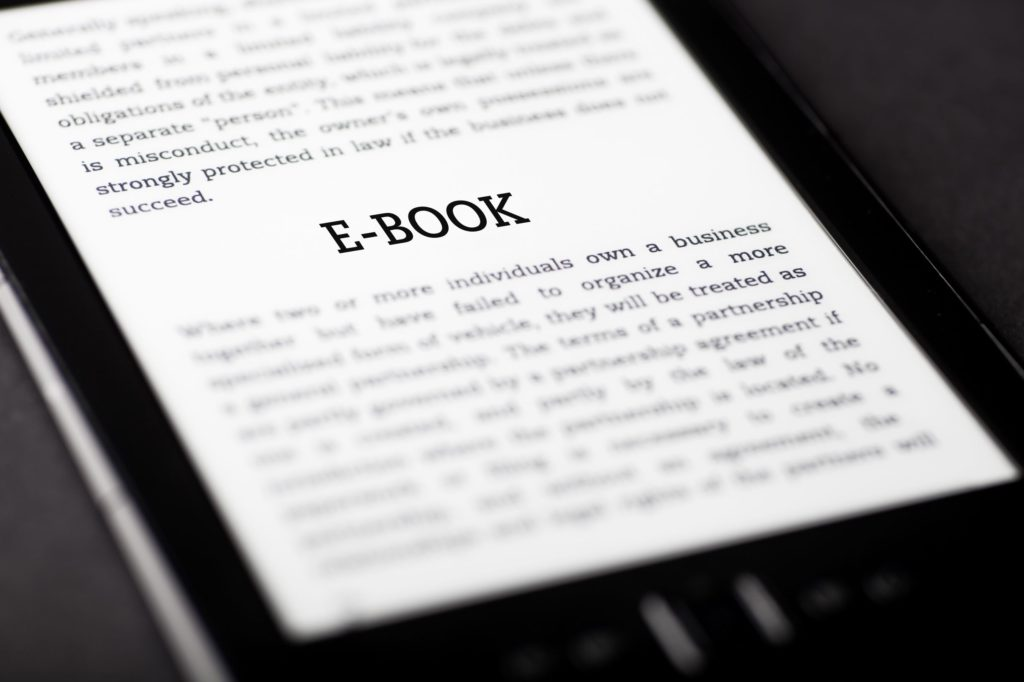 E-Book on Tablet